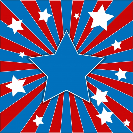star - US 4th of July - Independence Day Vector Design Stock Vector - 22318329