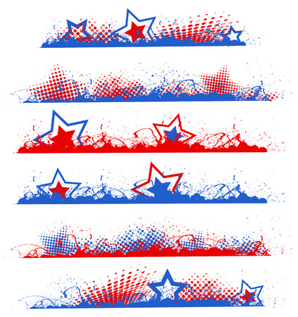 presidential: grunge edges - Patriotic USA theme Vector