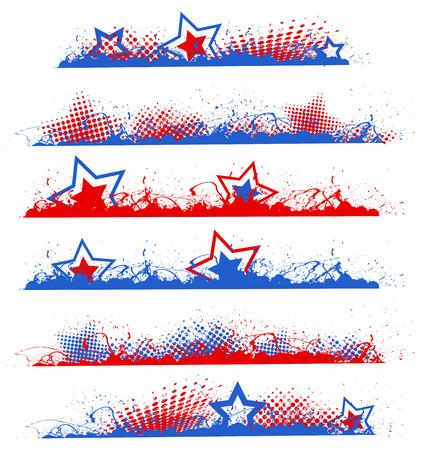 grunge randen - Patriotic USA thema Vector