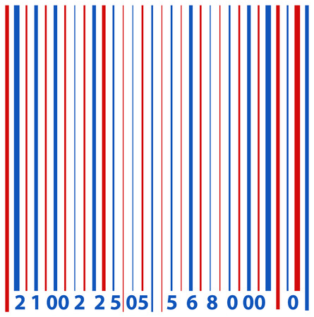 barcode - US 4th of July - Independence Day Vector Design