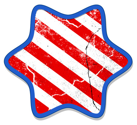 Grunge Star - Patriotic USA theme Vector Vector