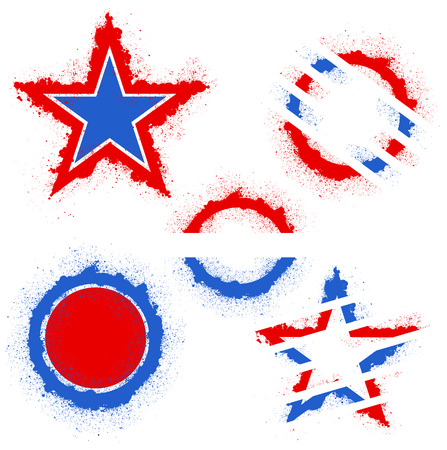 Patriotic USA theme Vector set Vector
