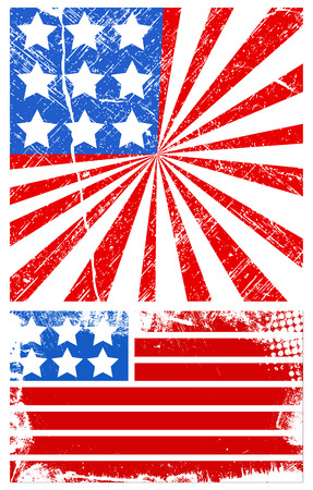 grunge american flag - Patriotic USA theme Vector