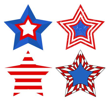 American Flag style - Patriotic USA Stars Vector Vector