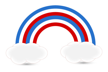 rainbow - USA Independence Day Vector theme Design Stock Vector - 22318381
