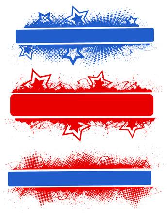 Banner Designs - Patriotic USA theme Vector