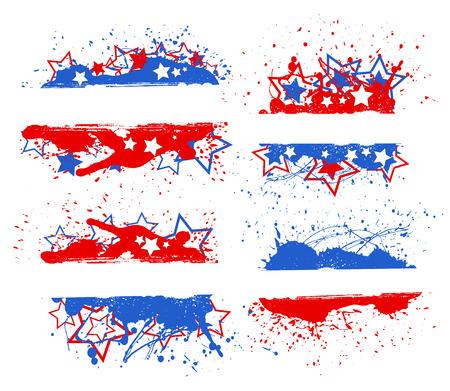 celebration banner set - Patriotic USA theme Vector