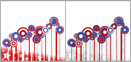 circles - Patriotic USA theme Vector Vector