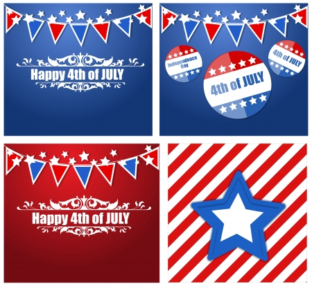 4th of July - Patriotic USA theme Vector Illustration