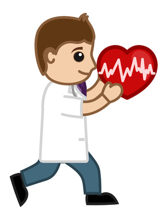 Heart Transplant Concept - Medical Cartoon Vector Character Vector