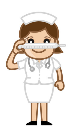 Thermometer - Medical Cartoon Vector Character Vector