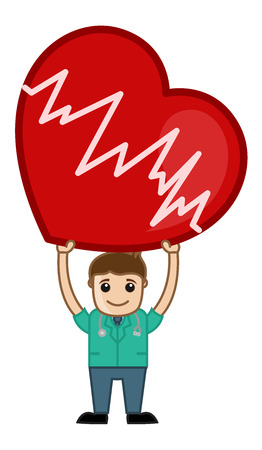 Heart Surgeon - Medical Cartoon Vector Character Vector