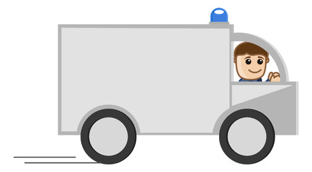 Medical Van - Medical Cartoon Vector Character Vector