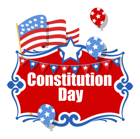 constitution day: Clebration Banner - Constitution Day Vector Illustration