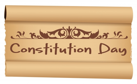 constitution: Scroll - Constitution Day Vector Illustration