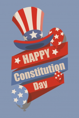 i want you: Retro - Constitution Day Vector Illustration