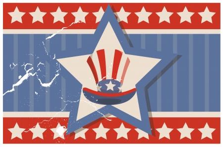 uncle sam: Vintage USA Flag theme Design background vector