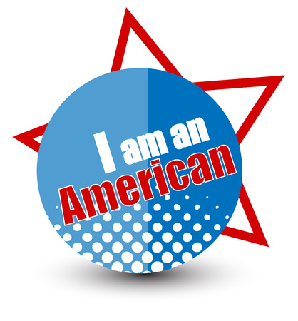 I am american - Constitution Day Vector Illustration Stock Vector - 22318407
