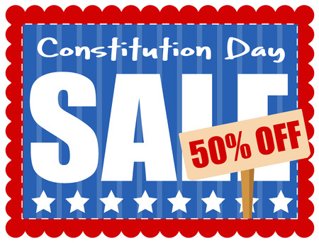 constitution: Sale Coupon - Constitution Day Vector Illustration