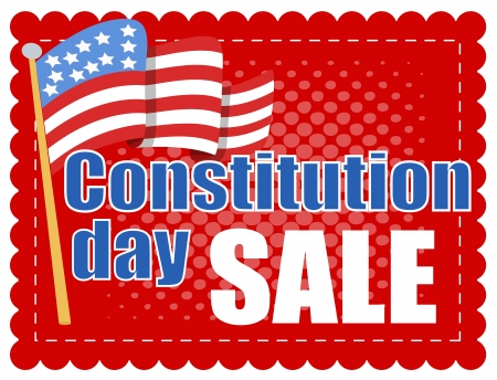 constitution day: Sale Banner - Constitution Day Vector Illustration