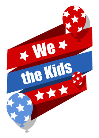 constitution: We the kids - Constitution Day Vector Illustration Illustration
