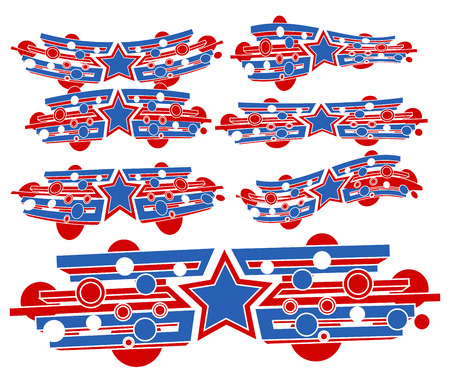 constitution day: USA Flag theme abstract design - Constitution Day Vector Illustration