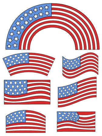 constitution day: USA Flag theme design - Constitution Day Vector Illustration Illustration