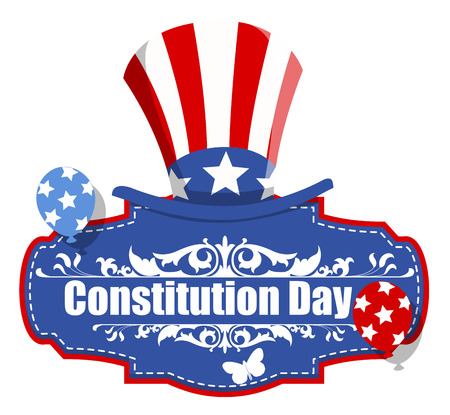 constitution: Uncle Sam Hat - Constitution Day Vector Illustration