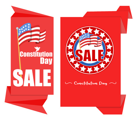 Origami Patriotic paper background - Constitution Day Vector Illustration Stock Vector - 22318425