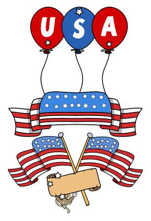 USA Flag theme designs Stock Vector - 22318428