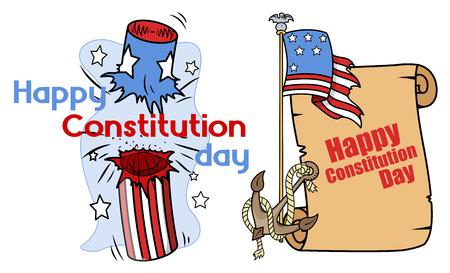 constitution day: Cartoon design - Constitution Day Vector Illustration Illustration