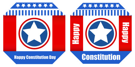 Banner style design - Constitution Day Vector Illustration Stock Vector - 22318431