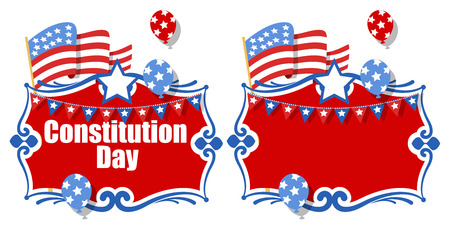 constitution day: Celebration background banner - Constitution Day Vector Illustration