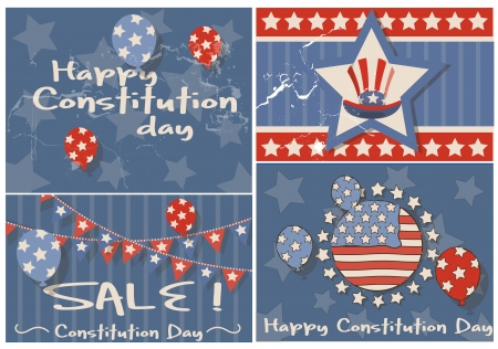 Vintage background - Constitution Day Vector Illustration Vector