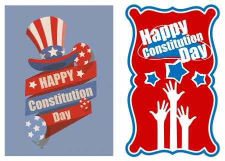 constitution: Designs and banner for USA - Constitution Day Vector Illustration Illustration