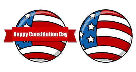 i want you: USA Flag theme - Constitution Day Vector Illustration