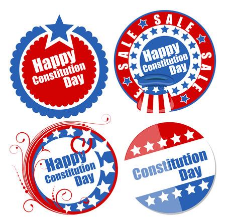 Circular designs for - Constitution Day Vector Illustration Stock Vector - 22318445