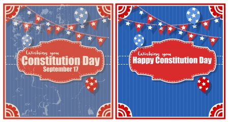 constitution day: Backgrounds - Constitution Day Vector Illustration