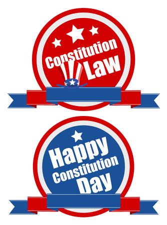 constitution: Banner shield - Constitution Day Vector Illustration