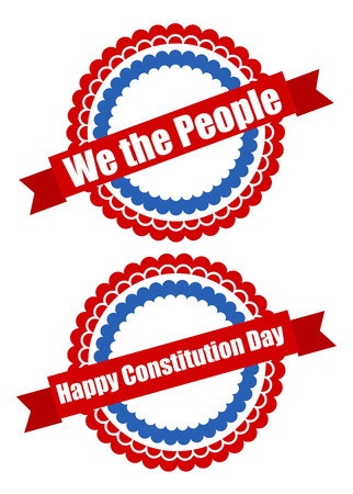 constitution day: circular designs - Constitution Day Vector Illustration