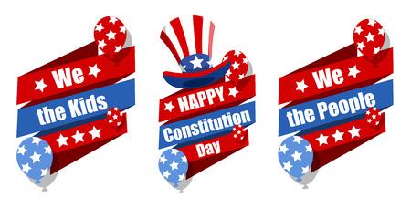 sam: celebration banner designs - Constitution Day Vector Illustration Illustration