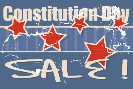 constitution day: Constitution Day Sale Vector Illustration Illustration
