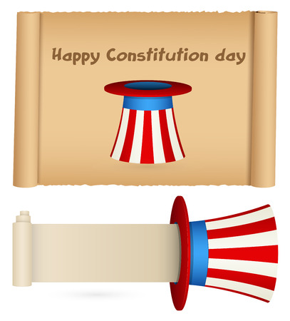 scroll for usa theme - Constitution Day Vector Illustration Stock Vector - 22318460