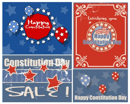 constitution day: American themed - Constitution Day Vector Illustration