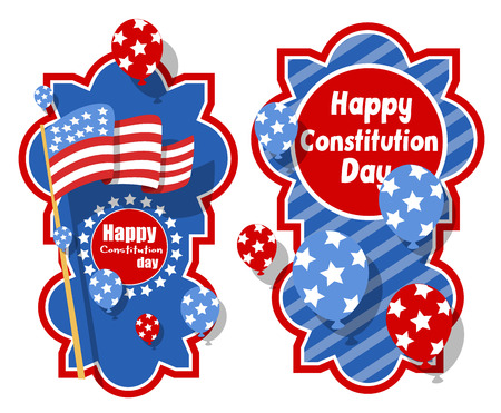 constitution: creative banner background - Constitution Day Vector Illustration