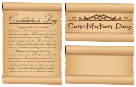 constitution day: scroll banner designs for - Constitution Day Vector Illustration