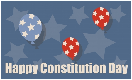 constitution day: USA - Constitution Day Vector Illustration