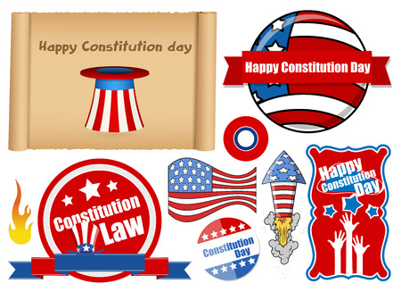 constitution day: USA Themed Constitution Day Design Vectors