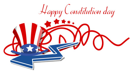 constitution day: Happy Constitution Day Vector Illustration