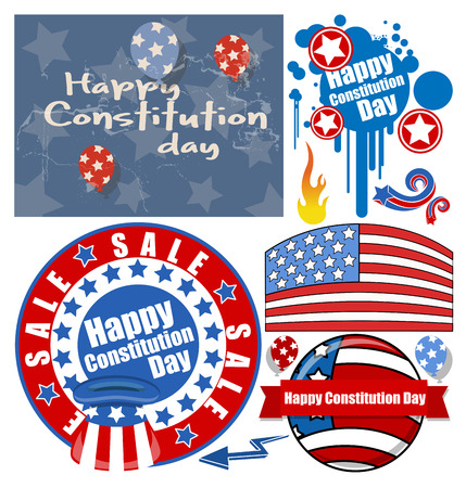 constitution: Constitution Day Patriotic Design Backgrounds   Elements Vectors Set for America